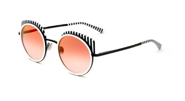 Etnia Sonnenbrille SPIGA BKWH Größe 52