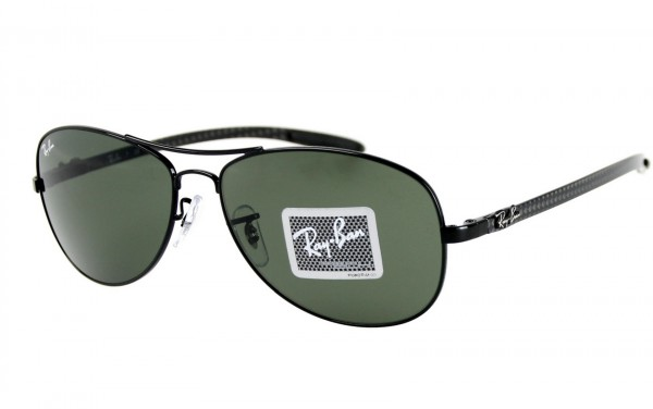 Ray Ban Sonnenbrille Tech/Carbon Fibre RB8301-002 Größe 56